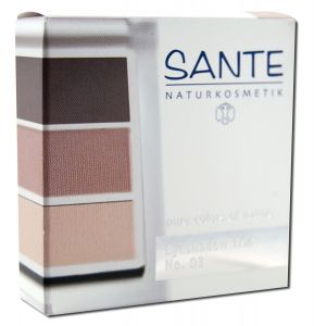 Sante - Eyeshadow Trios 5 Gram, Rose Wood 03 5 gm