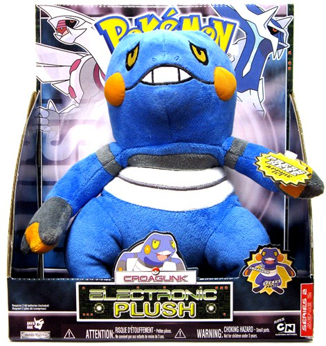 Pokemon Jakks Pacific Deluxe 12 Inch Electronic Plush Figure with Sound Croagunk