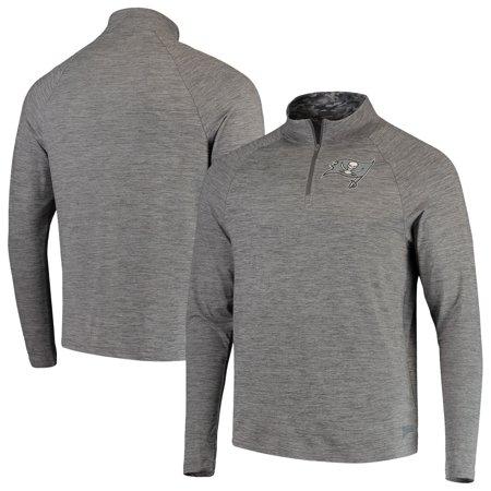 Tampa Bay Buccaneers Classic Jacket (Men's Zubaz Gray Tampa Bay Buccaneers Space Dye Quarter-Zip Jacket )
