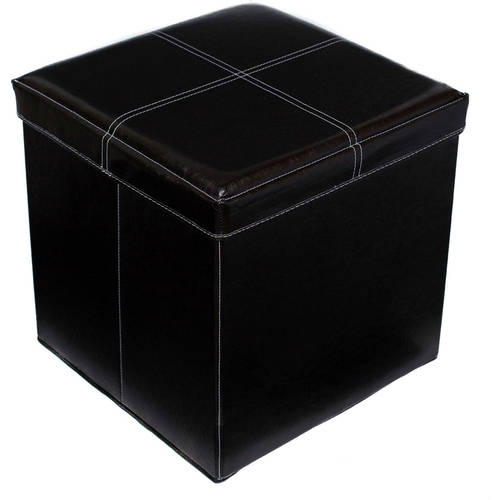 Birdrock Home Faux Leather Storage Ottoman With Legs