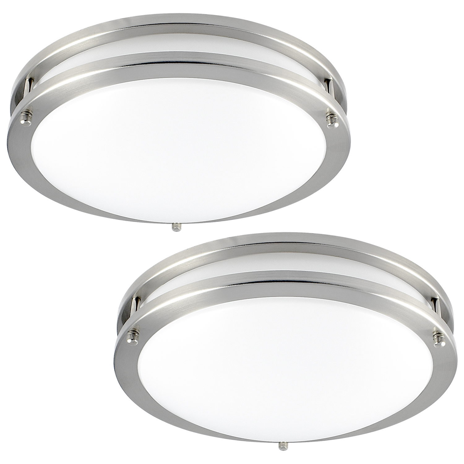 Luxrite LED Flush Mount Ceiling Light, 12 Inch, Dimmable