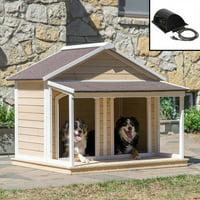 Boomer & George Medium Duplex Dog House with Heater