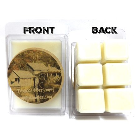 Tobacco and Bergamot 3.2 Ounce Pack of Soy Wax Tarts Wax Melts Scent Brick, Wickless Wholesale Candles