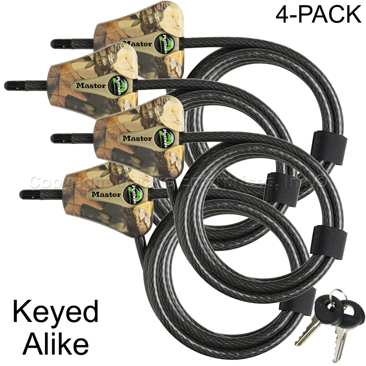 Cable Lock Pack Tree Stand Fastener Locks Supplies Outdoor Accessories NEW