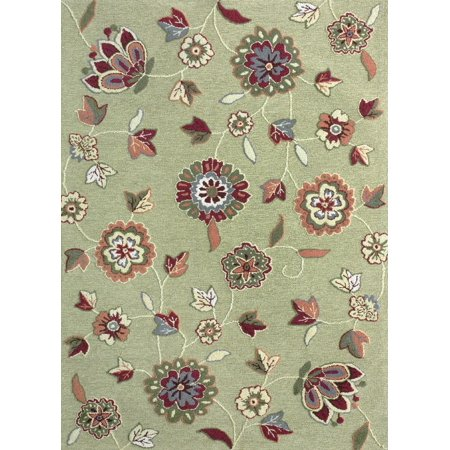 Loloi Country Fl Juliana Collection Area Rug In Gre