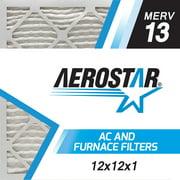 Aerostar 12x12x1 MERV  13,  Air Filter, 12x12x1, Box of 4