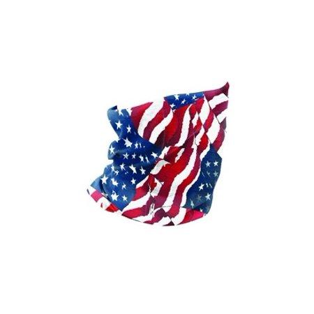 Zan Headgear Motley Tube, Polyester, Wavy American Flag T265