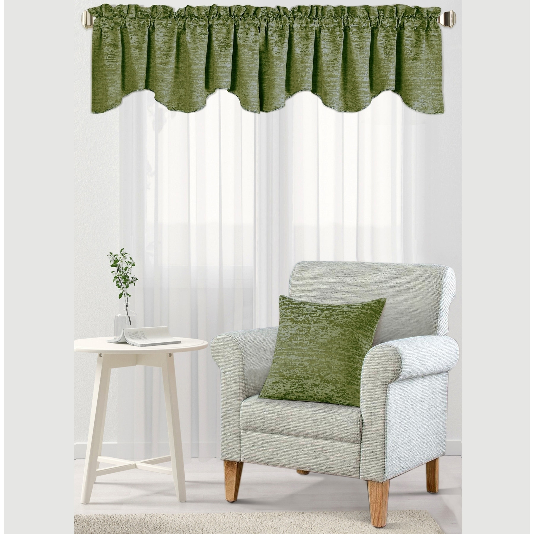 BNF Home Inc Serenta Jacquard Chenille Galaxy Window Valance & Pillow Shell Set