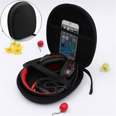 Headphone Headset Carrying Hard Case Storage Bag Pouch Holder for Sony Earphone 8.5''x7.5''x2.4'' ()