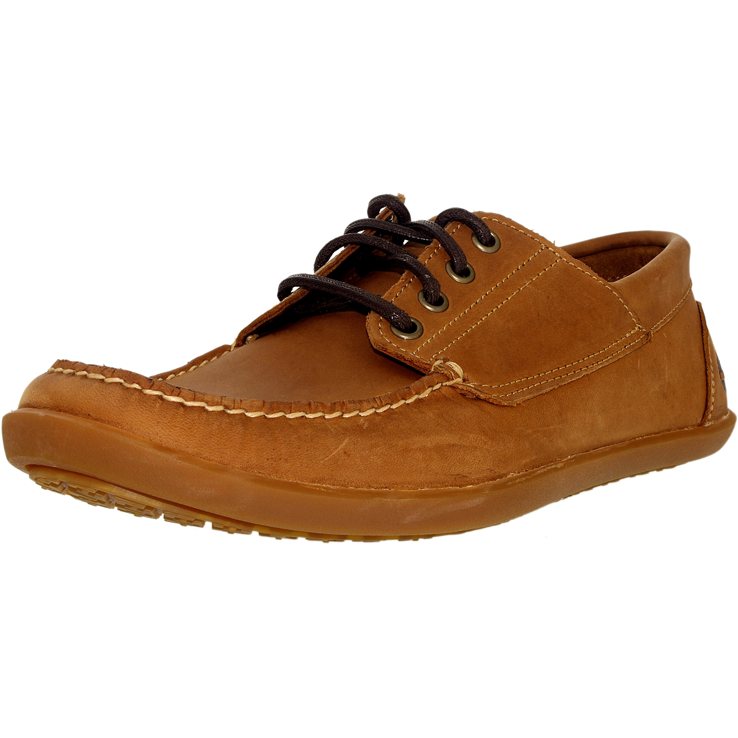 Timberland Men's Odelay 4 Eye Leather Red Brown Ankle-High Oxford Shoe - 10W
