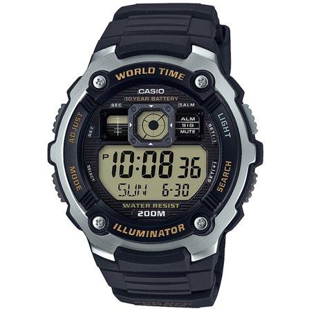 AE2000W-9AV Men's World Time 5 Alarms Chronograph Sports Digital Watch