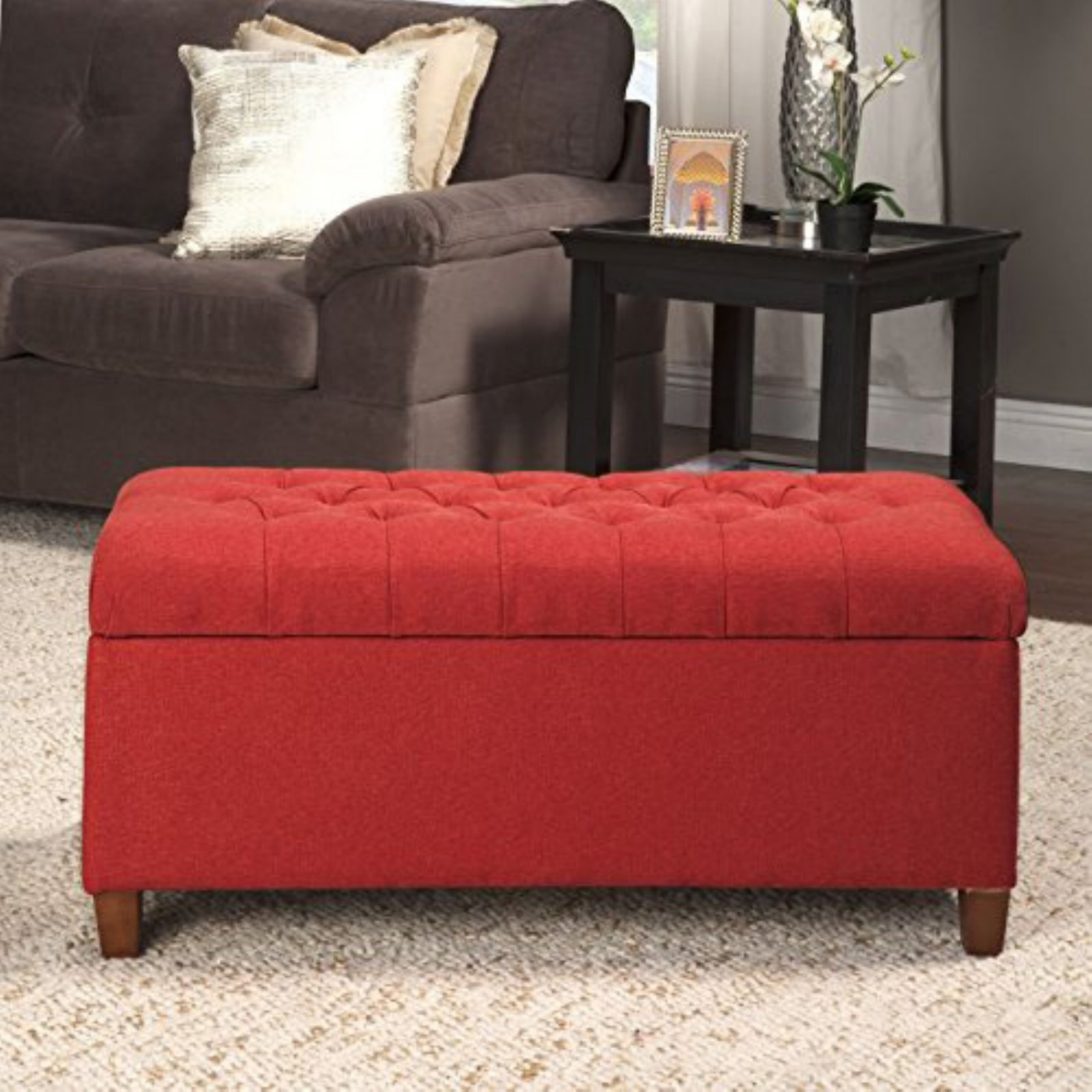 Kinfine USA Tufted Storage Bench