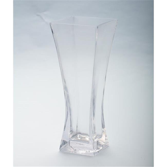 10 x 4 x 4 in. Flared Square Glass Vase, Clear - image 1 of 1