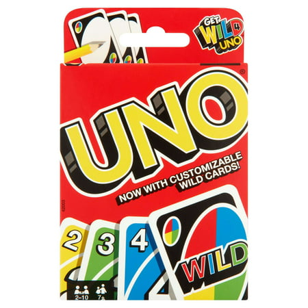 4 Classic Card Games (UNO Color & Number Matching Card Game for 2-10 Players Ages 7Y+ )