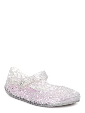 Stepping Stones Metallic Mary Jane Jelly Sandals (Toddler Girls)