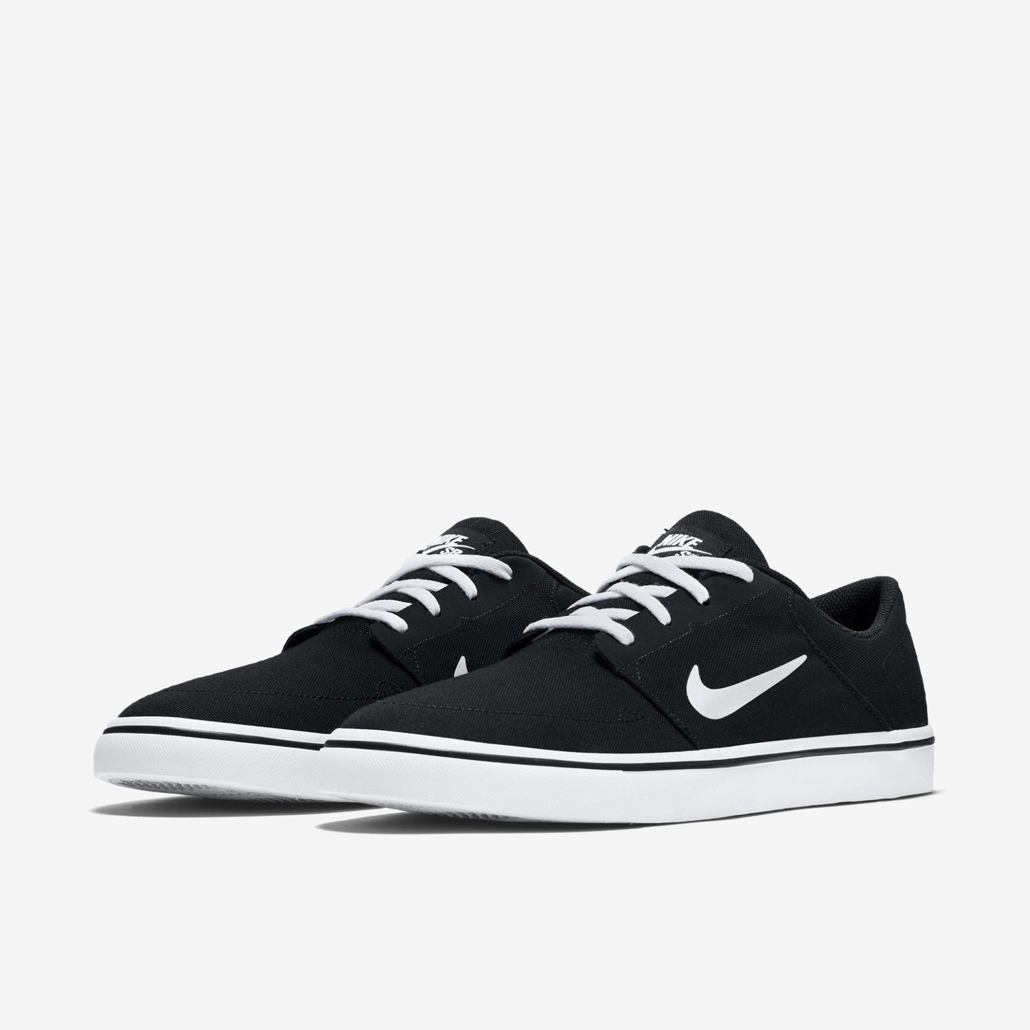 8a55d25dcf8506 ... usa nike 723874 003 mens sb portmore canvas jordan black white skate  shoe jordan canvas b24708