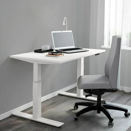 clevr single motor electric stand up desk white ergonomic standing height adjustable work. Black Bedroom Furniture Sets. Home Design Ideas