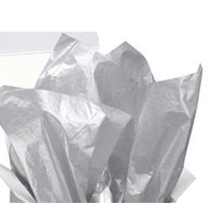 Silver Metallic Gift Wrap Pom Pom Tissue Paper -24ct
