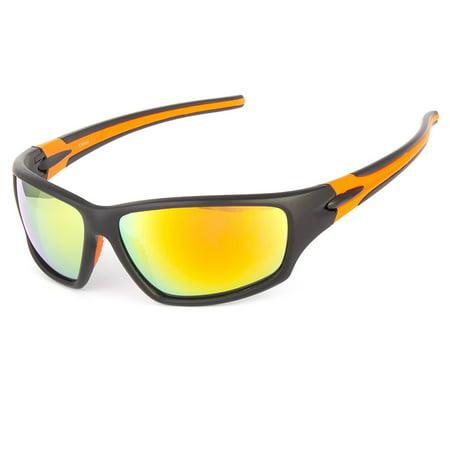 Verte Wrap Around Baseball Cycling Ski Running Biker Super Sport Men (Ski Sunglasses)