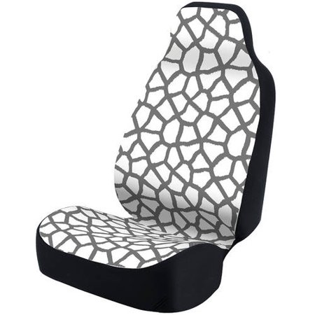 Fantastic Coverking Universal Seat Cover Fashion Print Ultra Suede Giraffe White Spots And Grey Background With Black Interlock Backing Alphanode Cool Chair Designs And Ideas Alphanodeonline