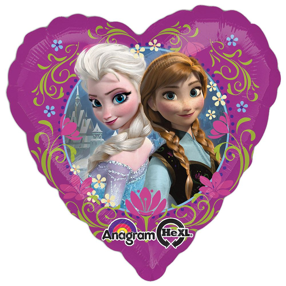 "Disney Frozen 18"" Heart Balloon (Each) - Party Supplies"