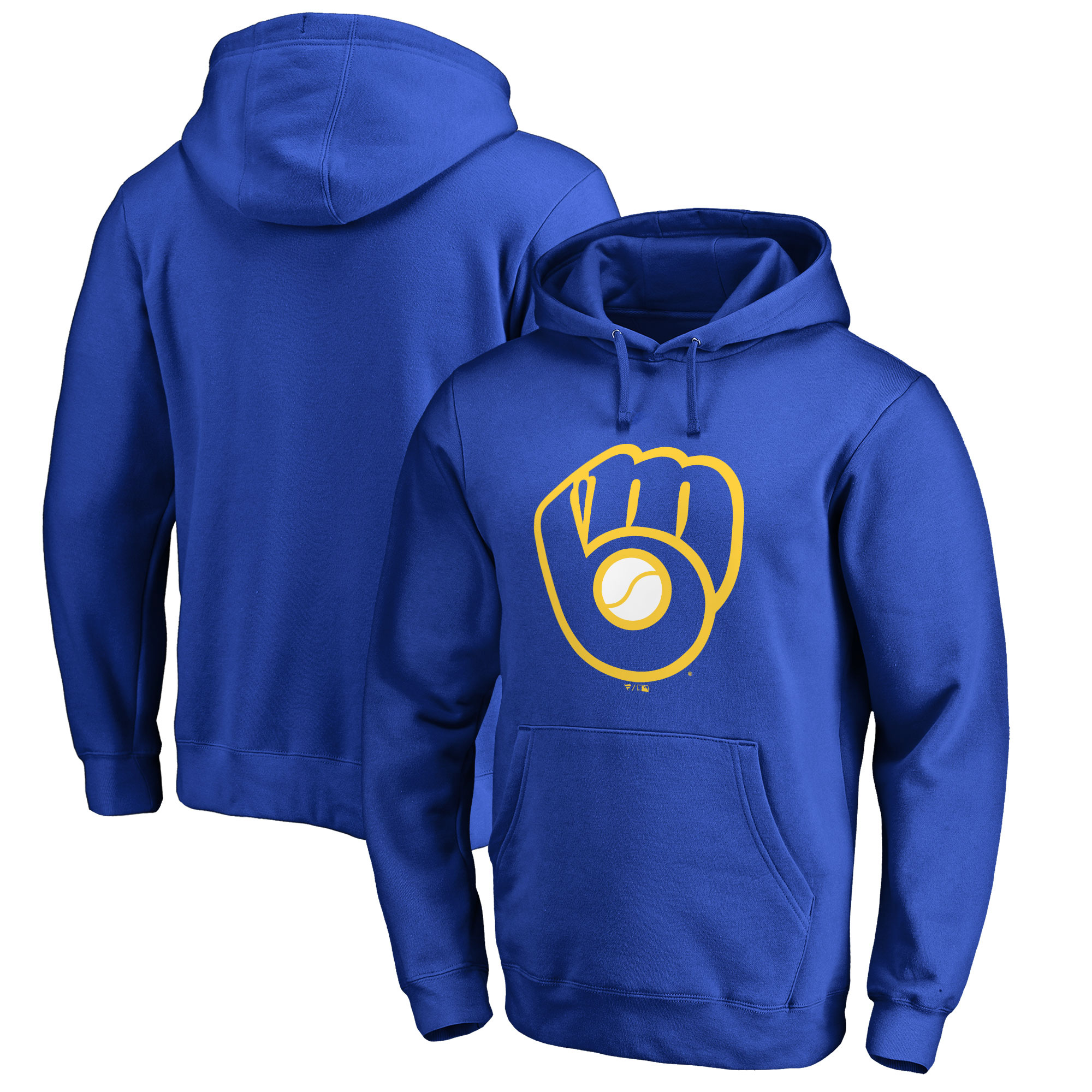 Milwaukee Brewers Fanatics Branded Primary Logo Pullover Hoodie - Royal