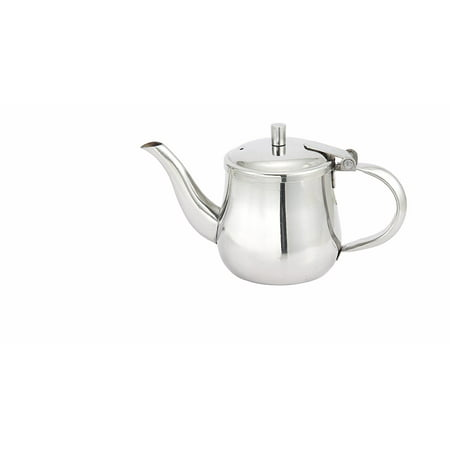 "Winco Stainless Steel Gooseneck Teapot Server, 5.5"" Length x 4"" Width x 3.9"" Height 