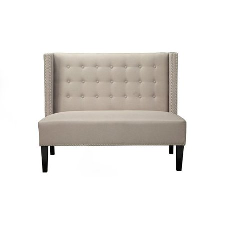 Canora Grey Adames Nailhead Trim On Tufted Back Upholstered Bench