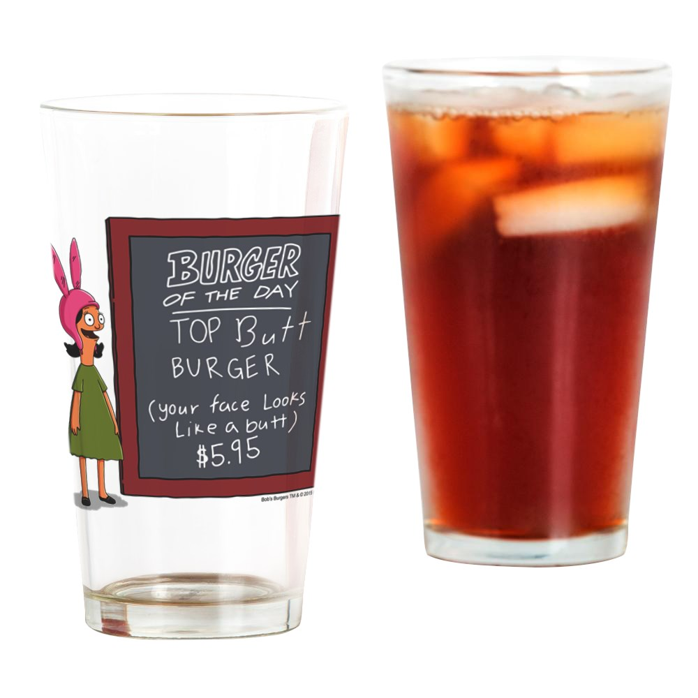 CafePress Bob's Burgers Burger Of The Day Pint Glass, Drinking Glass, 16 oz. CafePress by