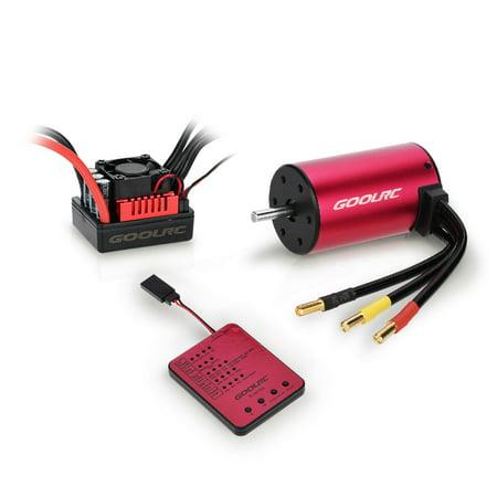 GoolRC S3650 4300KV Sensorless Brushless Motor 60A Brushless ESC and Program Card Combo Set for 1/10 RC Car Truck