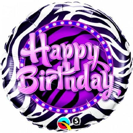 38070 Birthday Zebra Print Balloon Pack, 18