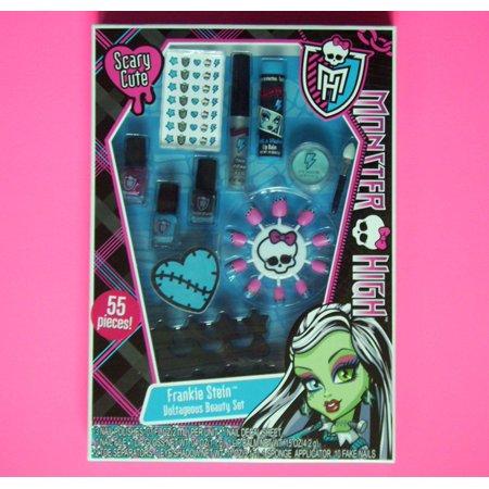 Monster High Makeup Set-Frankie Stein Voltageous Beauty Set 55 Pieces, 55 Piece Cosmetic Set - Frankie Stein Voltrageous Beauty Set By Lotta