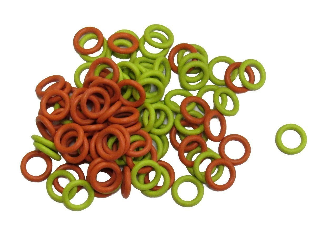 Soft Stitch Ring Markers Available in 3 sizes, Includes 2 colors,... 100 Pack