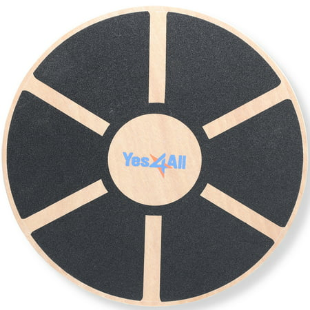 Yes4All Wooden Balance Board Wobble – Exercise Balance Trainer (15.75-inch Diameter) ()
