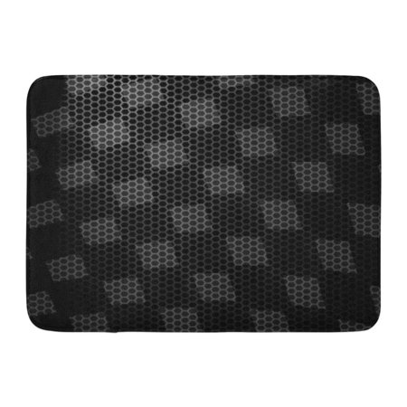 GODPOK Bike Black Race Abstract Racing Checkered White Auto Car Rug Doormat Bath Mat 23.6x15.7 inch (Black And White Checkered Floor)