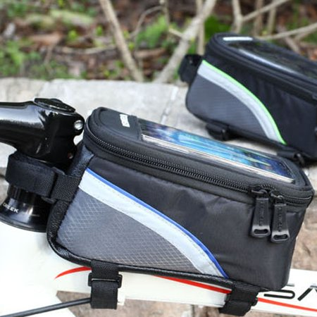 Bicycle Front Tube Frame Cycling Frame Pannier Waterproof Bike Bag for 4.2 inch Cellphone Accessories