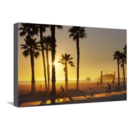 The South Bay Bicycle Trail at Sun Set. Stretched Canvas Print Wall Art By Jon (Best Bike Trails In Bay Area)