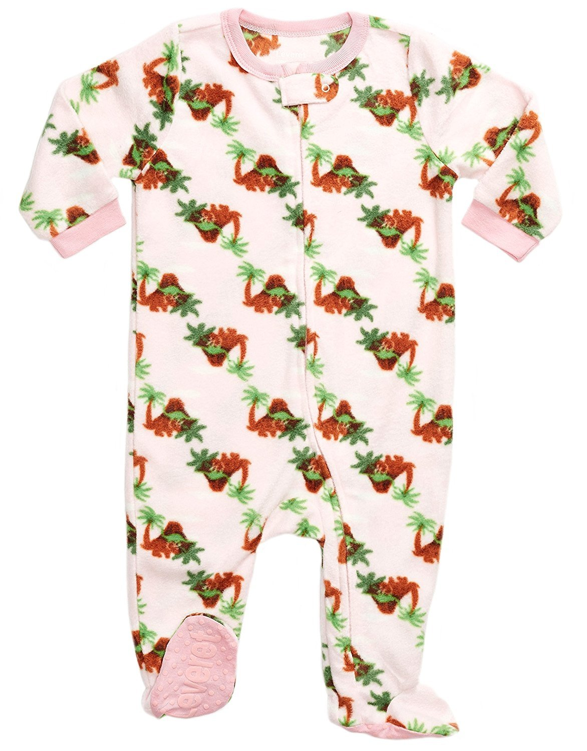 Leveret Fleece Footed Pajama Sleeper Dinosaur 6-12 Months