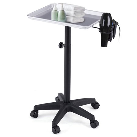 Gymax Equipment Salon Spa Service Tray Beauty Trolley Cart with Appliance Holder