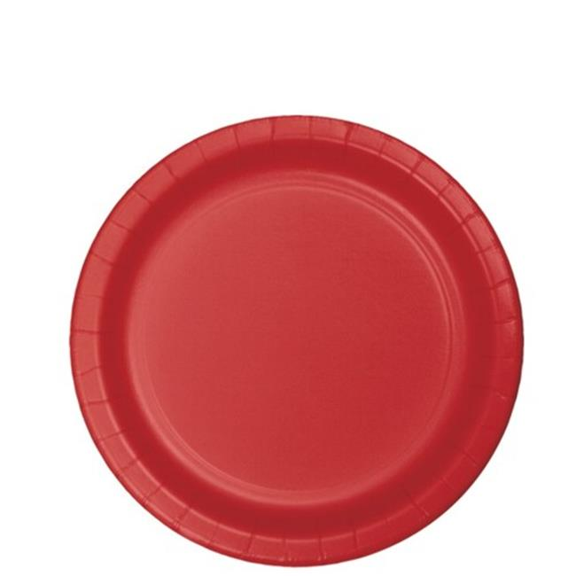 Hoffmaster Group 791031B 7 in. Lunch Plate, Classic Red - 24 per Case - Case of 10