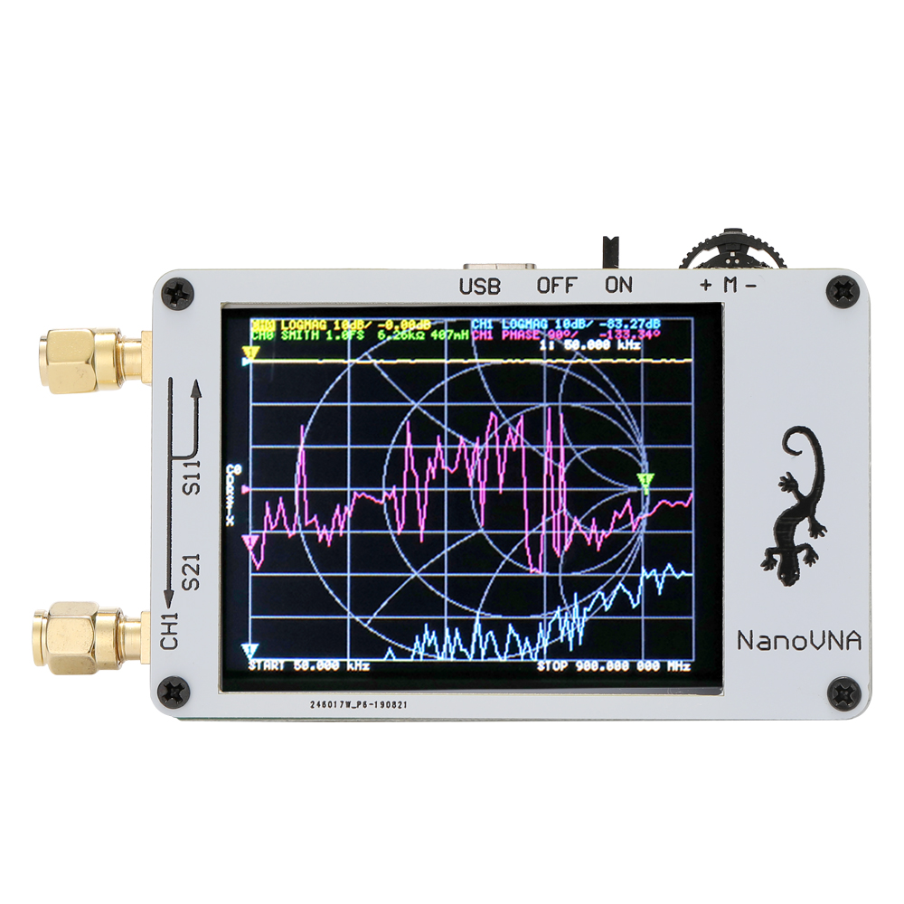 Vector Network Analyzer HF VHF UHF Antenna Analyzer with 50KHz-3GHz 2.8 Inch Digital LCD Display Touching Screen Standing Wave Measuring Instrument