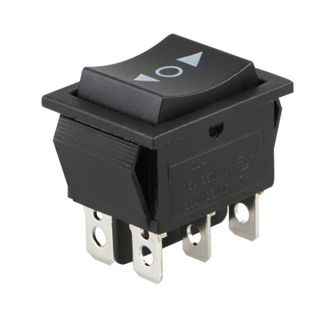 6 PIN DPDT 20 Amp Momentary Rocker Switch, Double Pole Double Throw, for Car Motorcycle Boat or Other Home