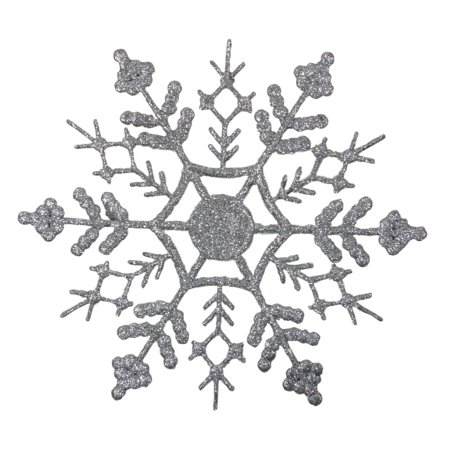 Northlight 12ct Glitter Snowflake Christmas Ornament Set 6.25