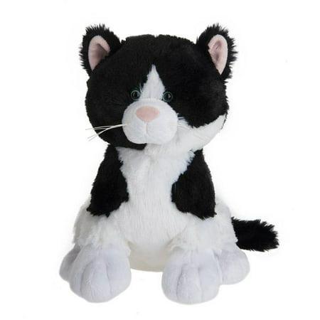 Meowzer Black White Cat 10 Inch Stuffed Animal By Ganz H14013