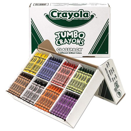 Crayola Jumbo Classpack Crayons, 25 Each Of 8 Colors, 200 - Box Of Crayons