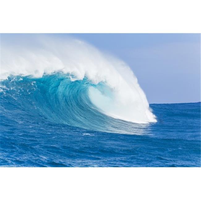 Blue Ocean Wave Poster Print by Design Pics Vibe, 34 x 22 - Large - image 1 de 1