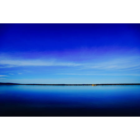Canvas Print Calm Blue Water Sky Sea Lake Serene Ocean Stretched Canvas 10 x 14