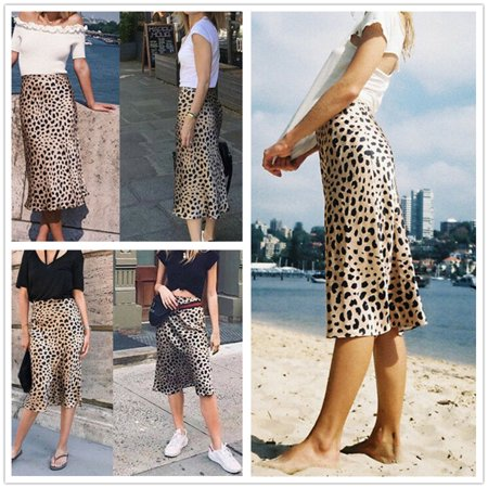 Shirred Waist Pencil Skirt (Women Skirts High Waist Skinny Leopard Printed Pencil Skirt Streetwear Pencil Skirts)