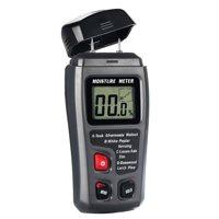 Digital Moisture Meter 2 Pins Sensor Water Leak Detector with Digital LCD Display Range 0% to 99.9% for Wood