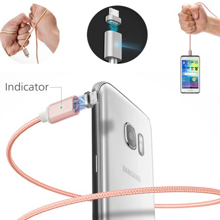 AGPtek 3.0A Magnetic Micro USB Charging Cable Fast Charger Adapter for Android Samsung LG HTC